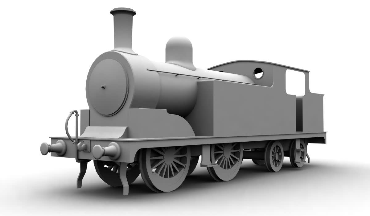 G5 outline render produced to show roughly the appearance of the locomotive for exhibition purposes. Model railway manufacturer Bachmann has expressed interest in producing a model in OO Gauge