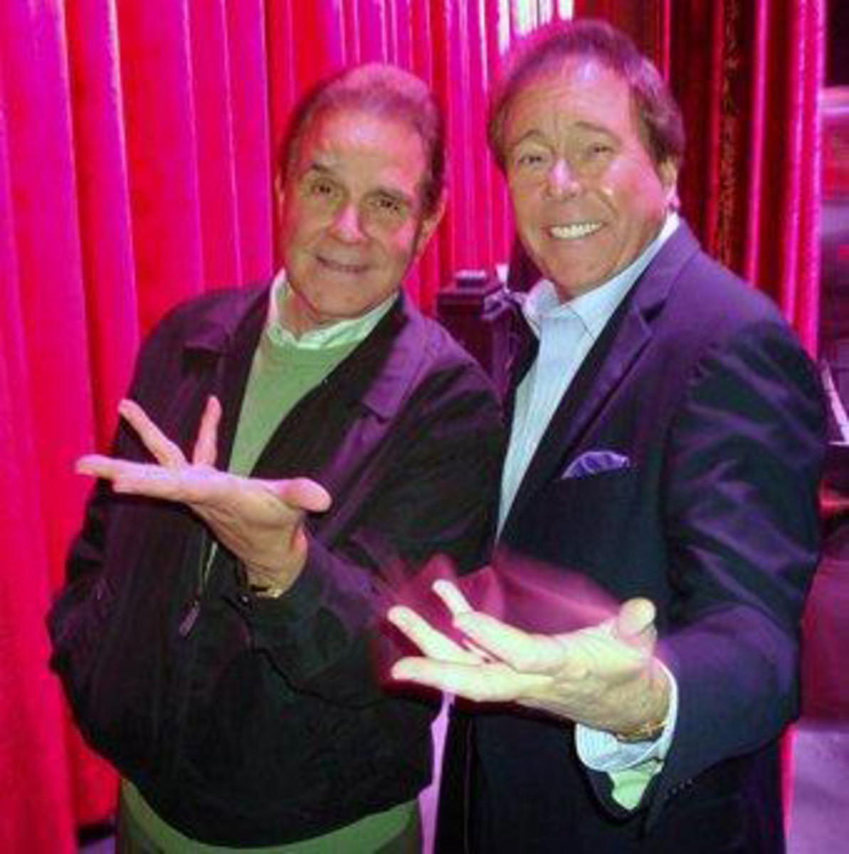 Dennis with legendary impersonator and comedian, Rich Little.