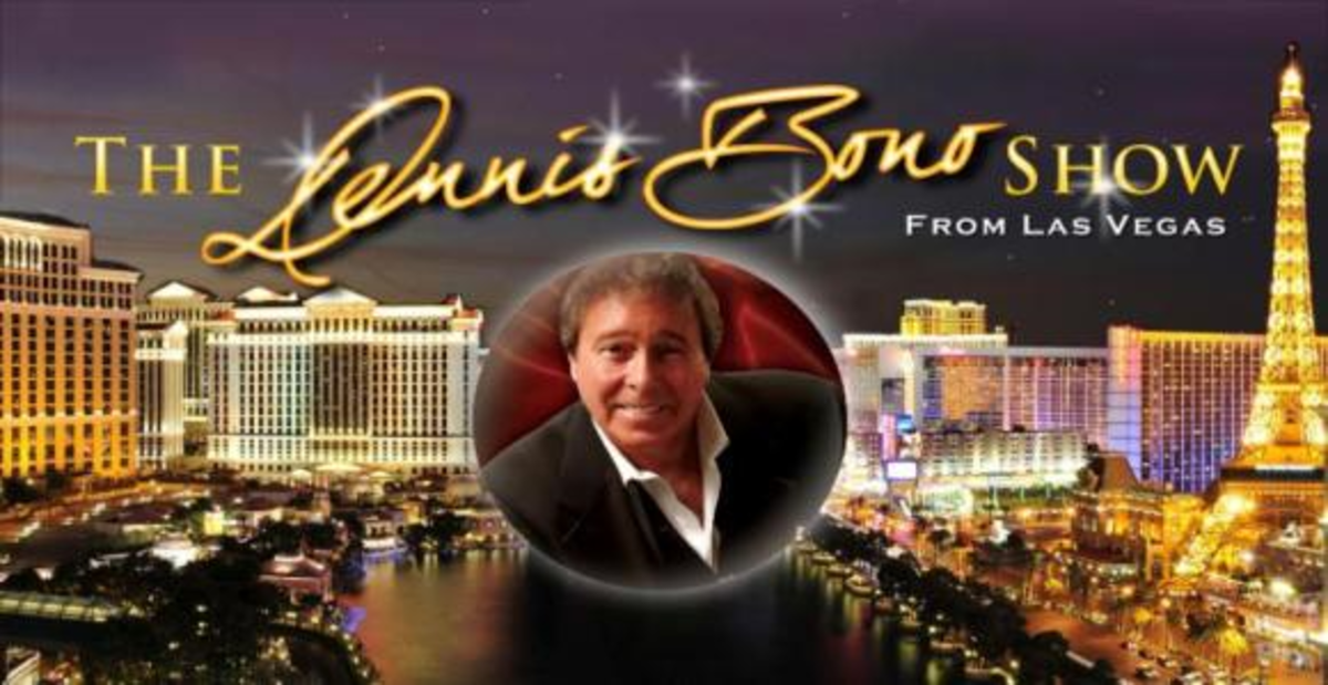 The Dennis Bono Show is a variety radio show that is taped live every Thursday at the South Point Hotel Casino & Spa, and then is broadcast out to over 190 radio stations across the country the next day.