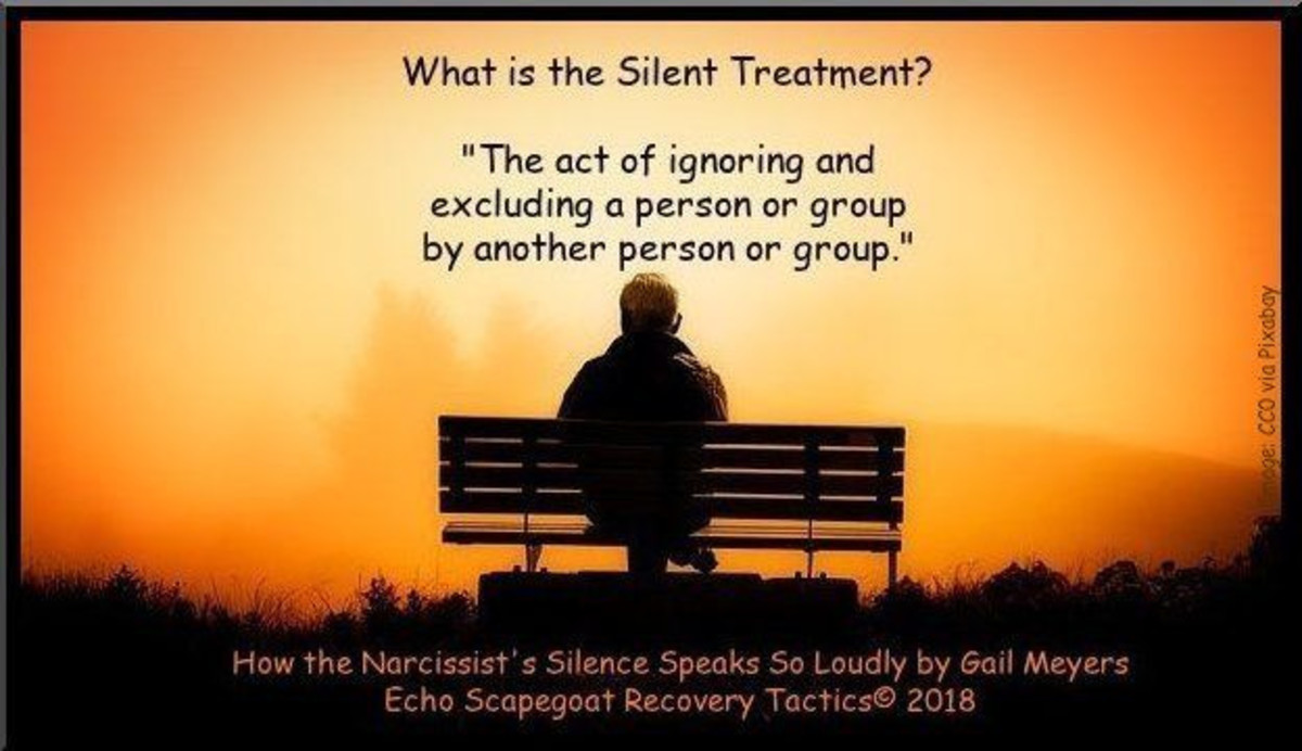 The Silent Treatment defined. Artwork CCO free for commerical use via Pixabay.