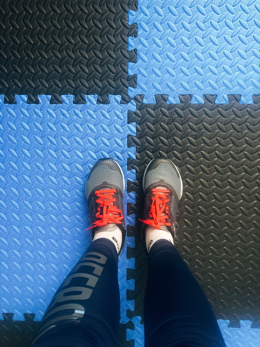 The puzzle exercise mat. Not just it protects the flooring but, you can do light exercise on it.