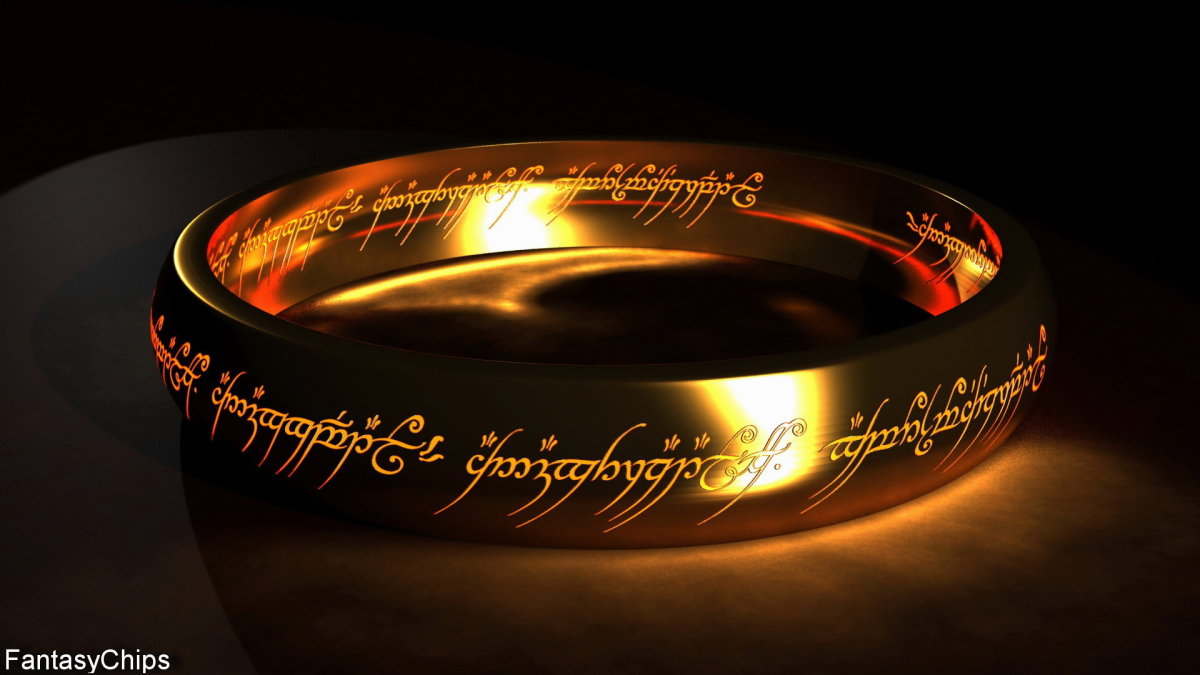 By artist Alireza Tahouri.  The Oath of Feanor and the One Ring of Sauron both share the disturbing quality of having a spirit all their own that while is connected to it's creator, is also separate from them.