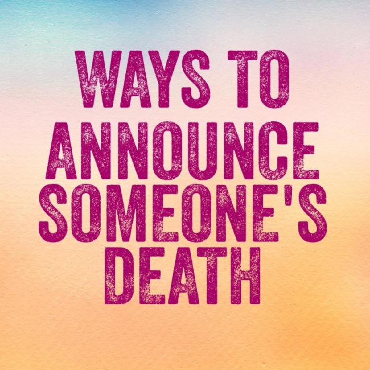 Ways to Say Someone Has Died