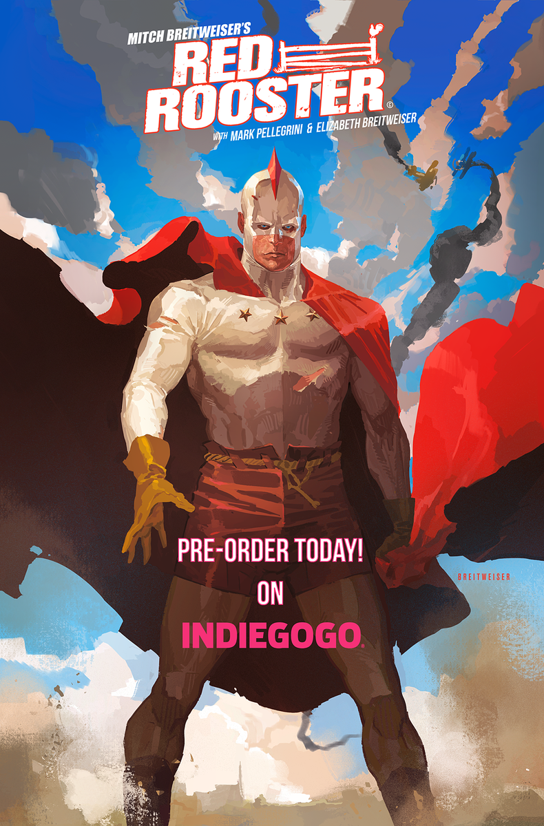 Promotional image for Mitch Breitweiser's comic Red Rooster.