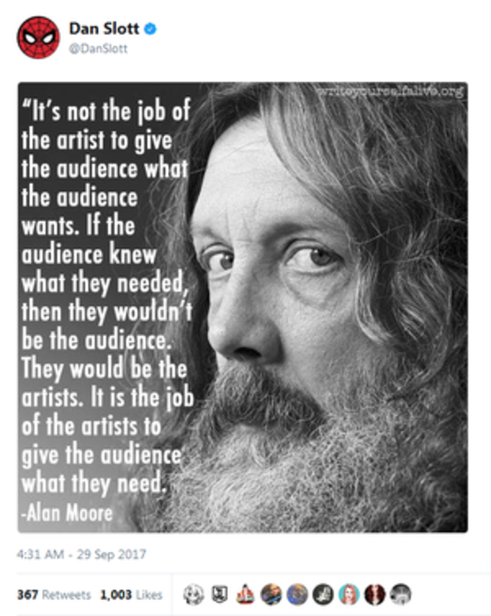 """I would love to see Ethan Van Sciver try the whole """"I and Comicsgate are the best thing evar"""" routine with Alan Moore.  Also this quote isn't wrong."""