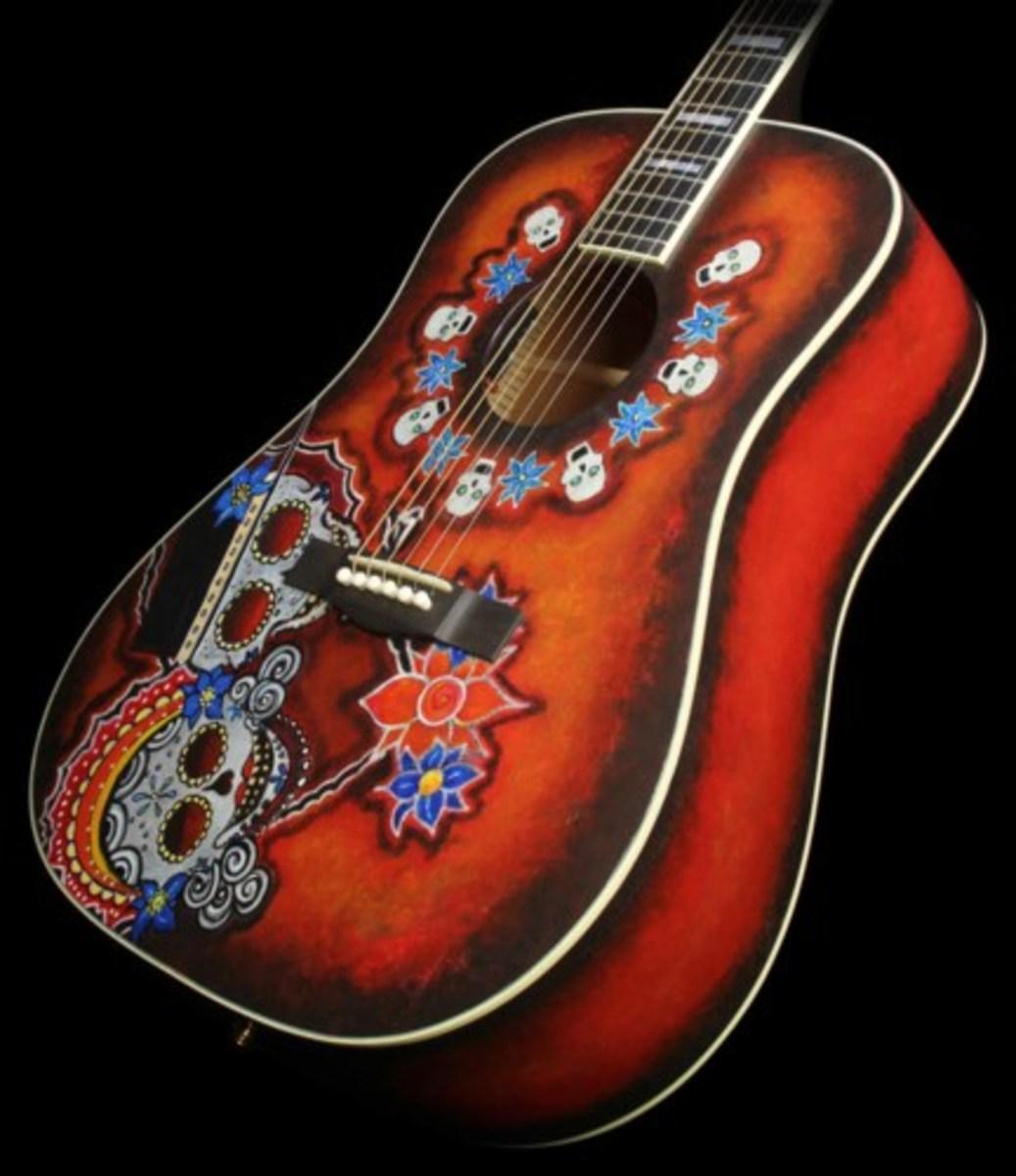 The Fender Dia De Los Muertos Guitar.