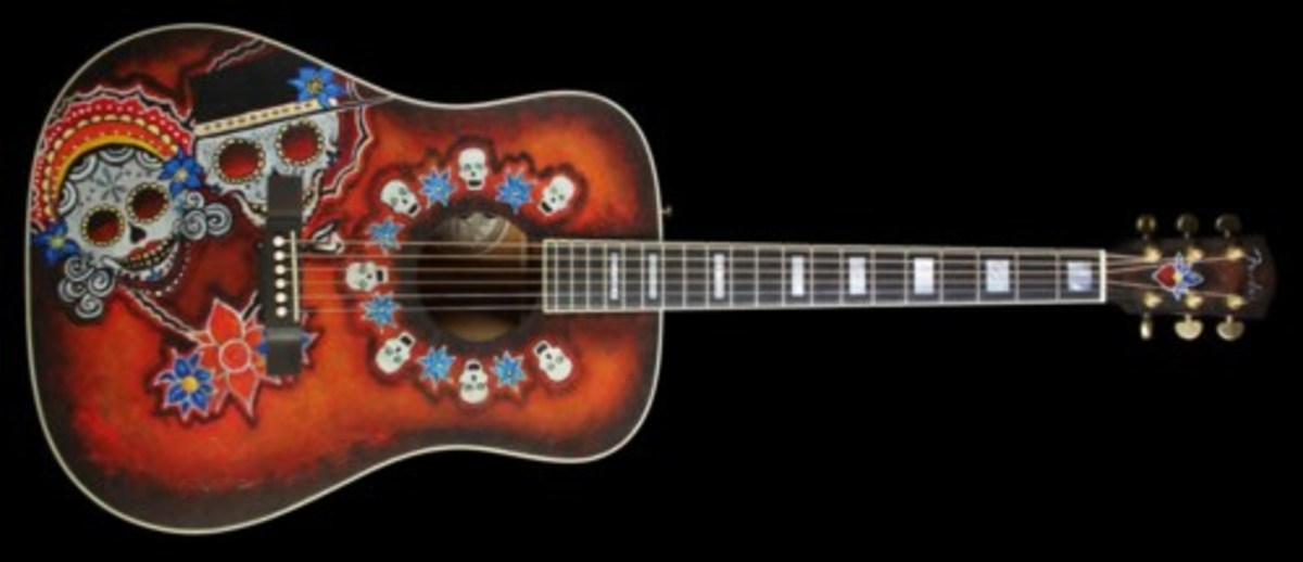 The Fender Dia De Los Muertos Acoustic Guitar.