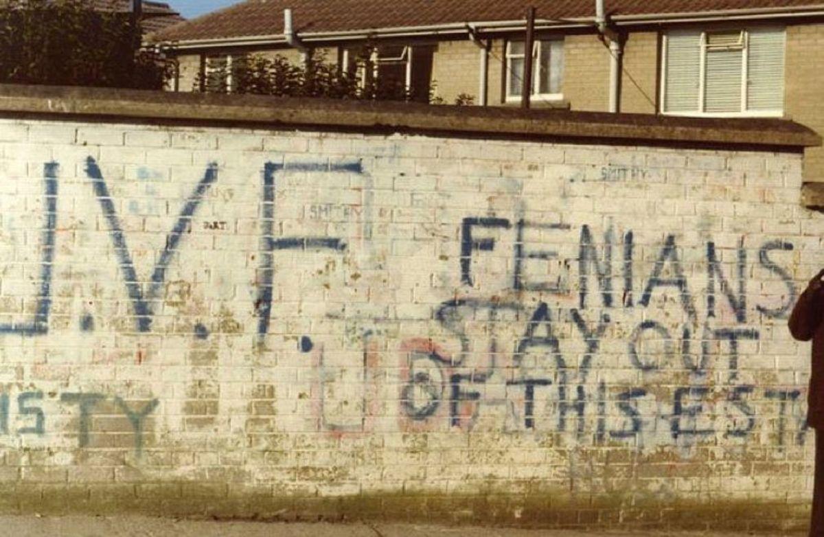 UVF graffiti threatening Catholics