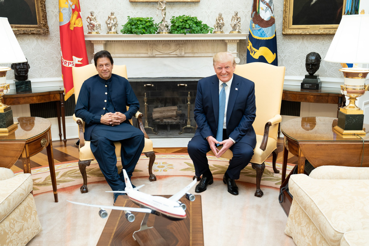 Bilateral discussion between Pakistan Prime Minister and U.S President in July 2019
