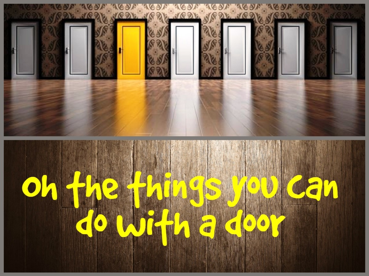 Be creative with that old hollow core door!