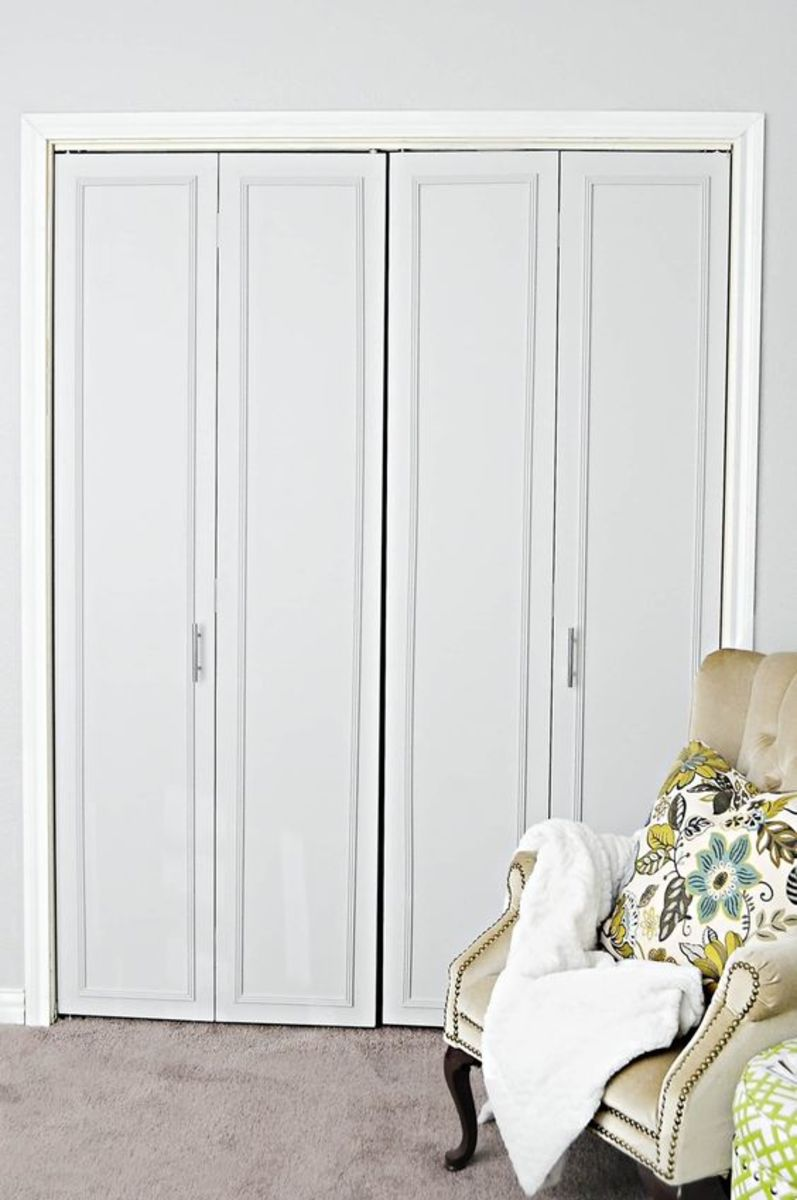 Can you even tell that these were those dark wood hollow core closet doors in every 1970's rancher bedroom?