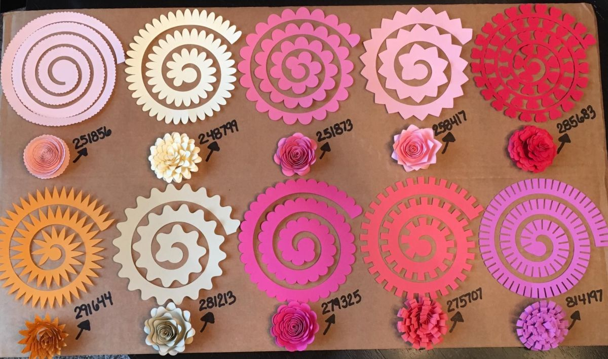 There are dozens of different types of rolled paper flowers to create