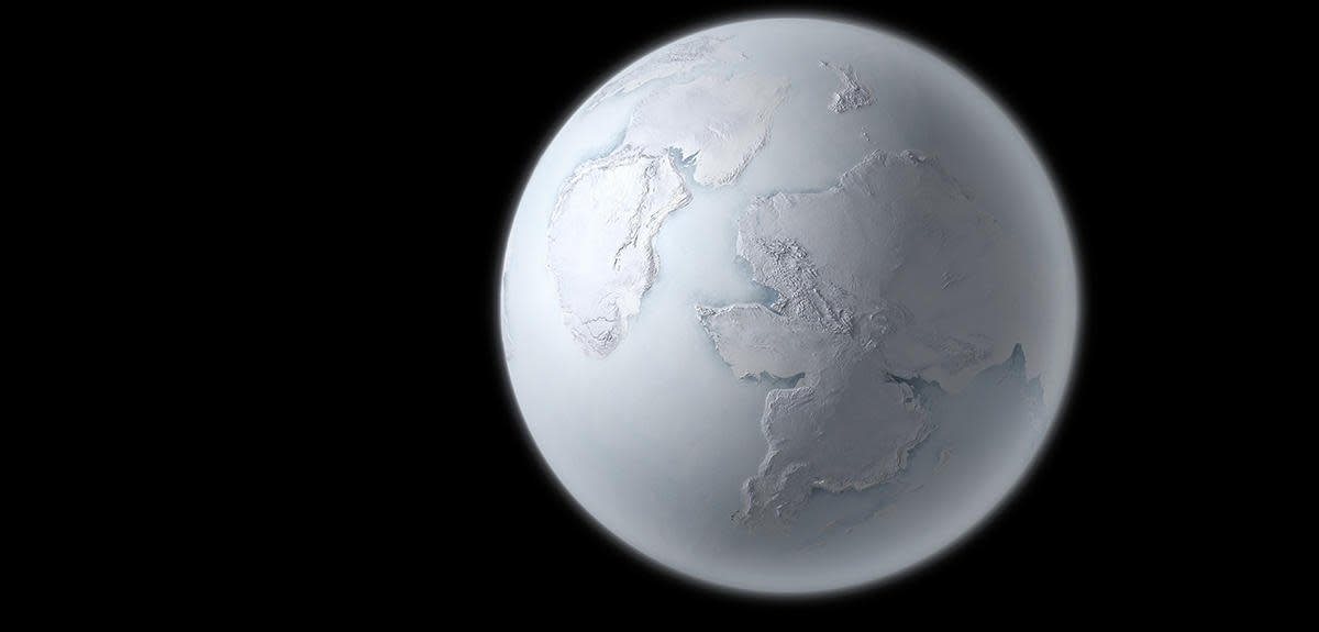 Several Times In The Past, Earth Was a Giant Snowball Covered or Nearly Covered In Ice & Snow.