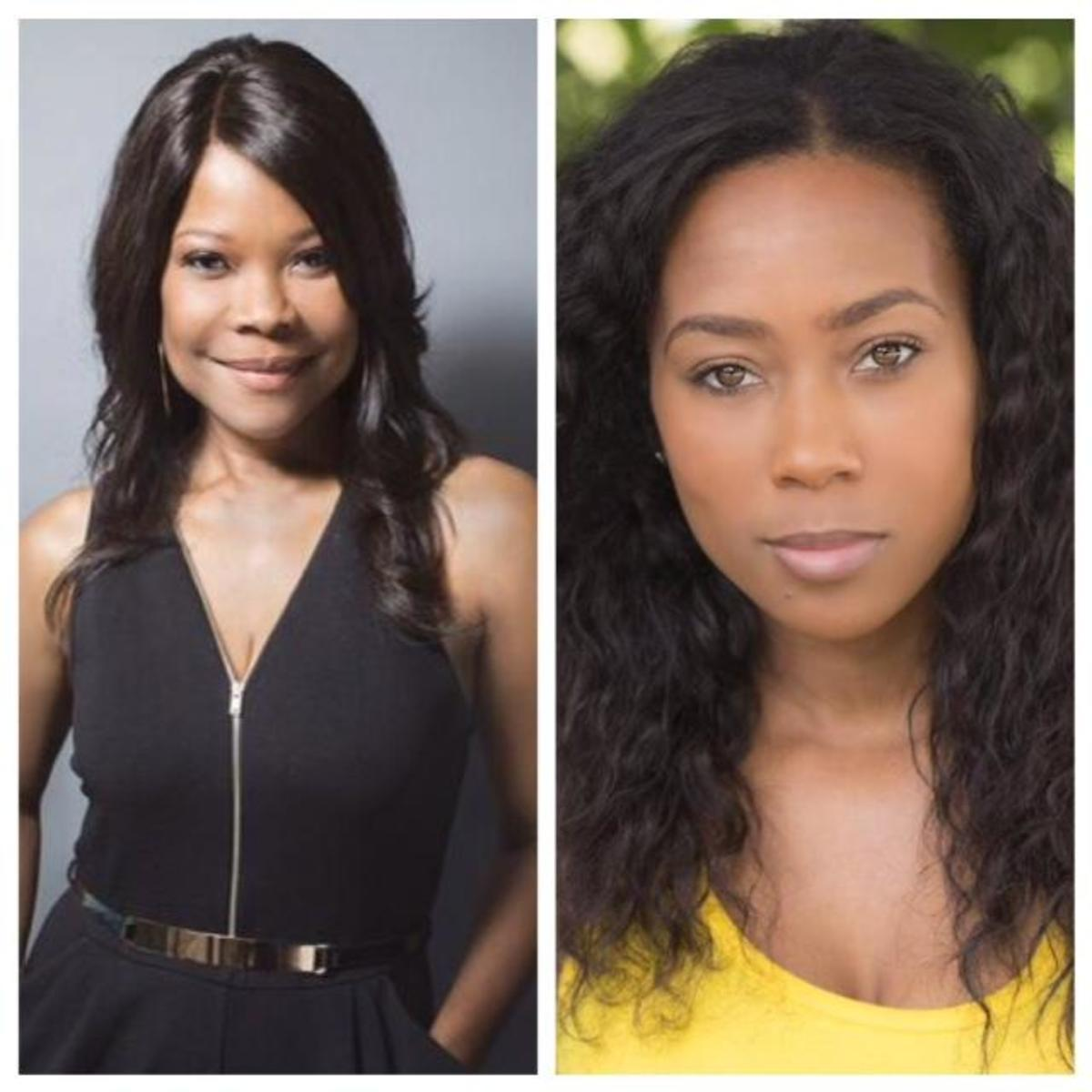 "Angela Robinson as Veronica Harrington and Cameo  Sherrell as Laura on ""The Haves and the Have Nots"""