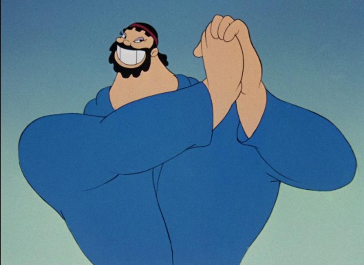 Bluto as Hercules