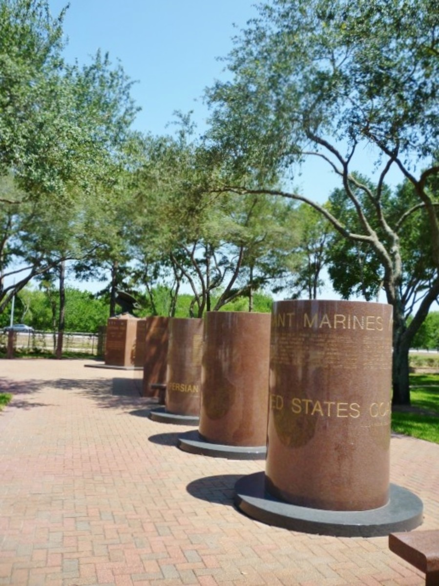 View of a portion of the Harris County War Memorial in Bear Creek Park