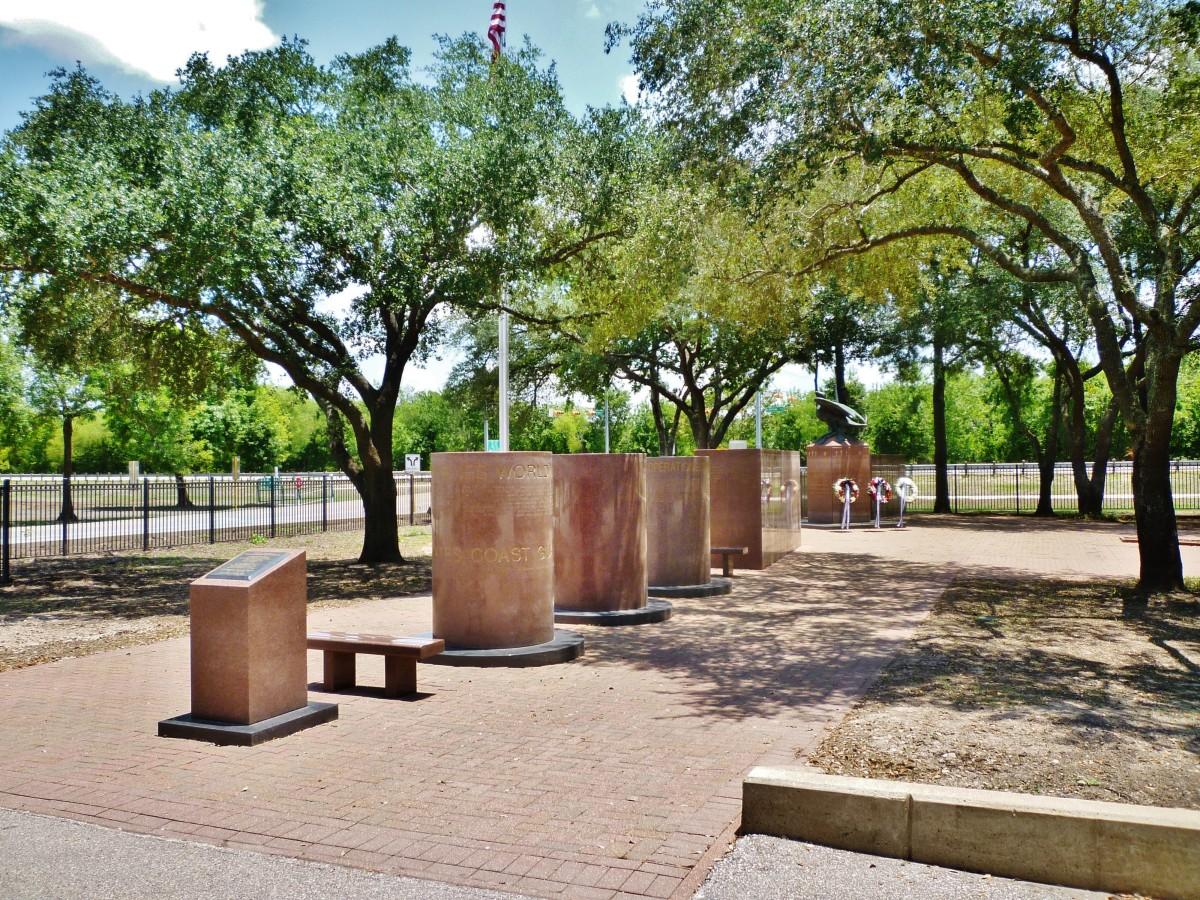 War Memorial in Bear Creek Park of Houston
