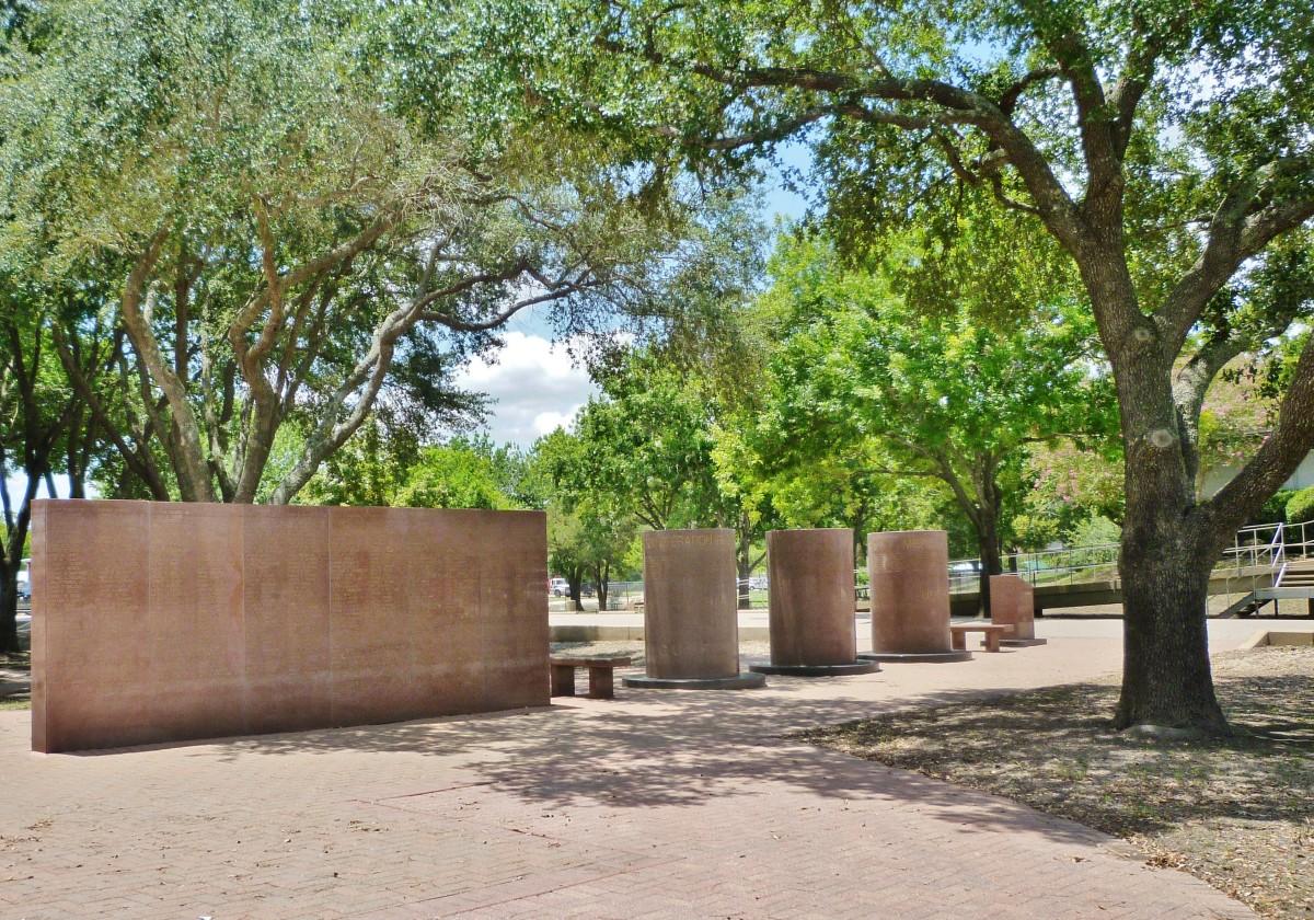 View of the Harris County War Memorial in Bear Creek Park