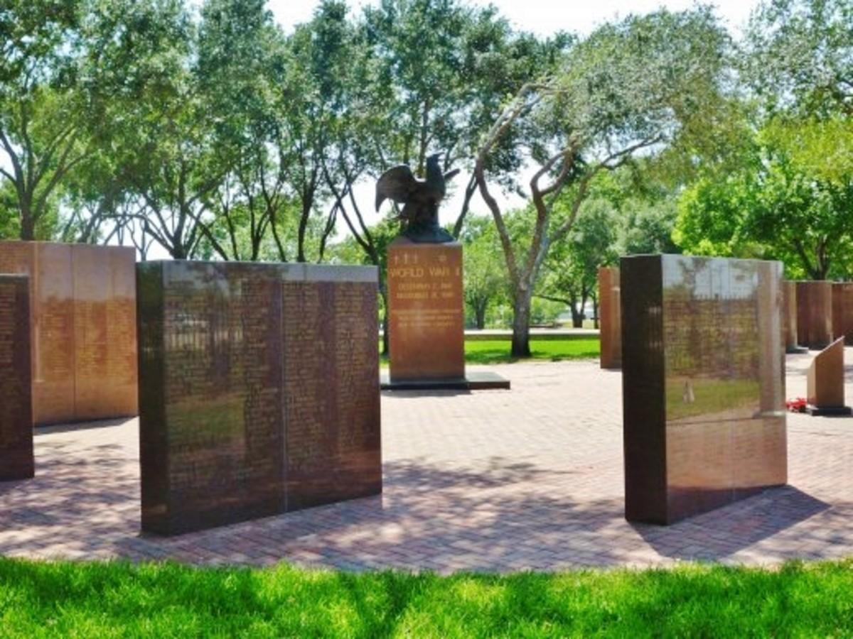 Harris County War Memorial in Bear Creek Pioneers Park