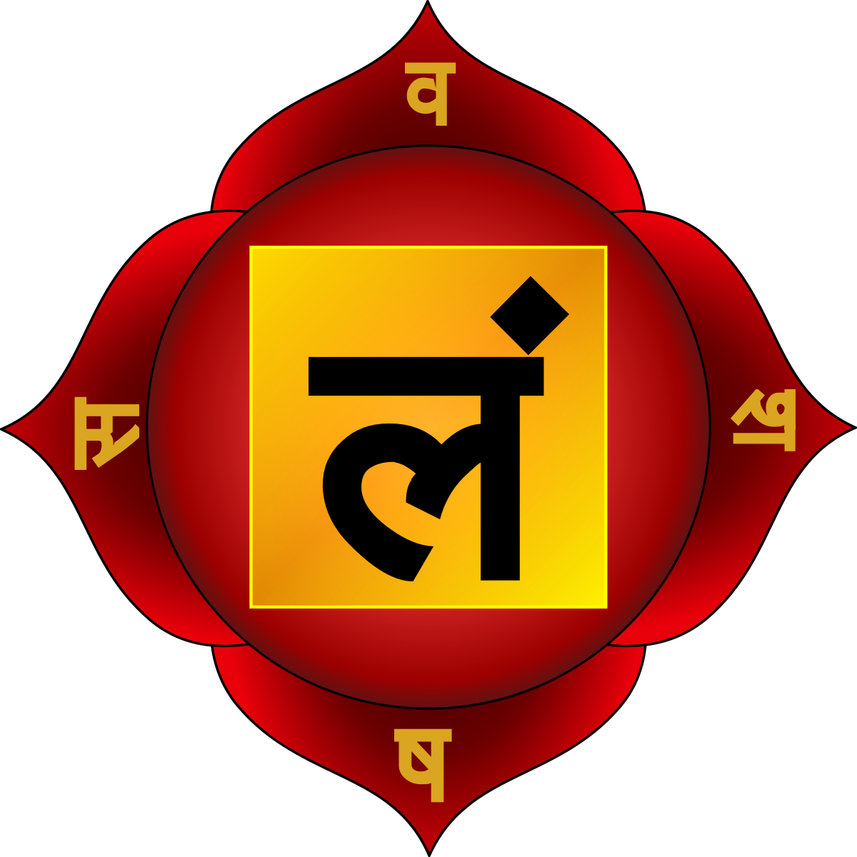 Mooladhara chakra (Root chakra)