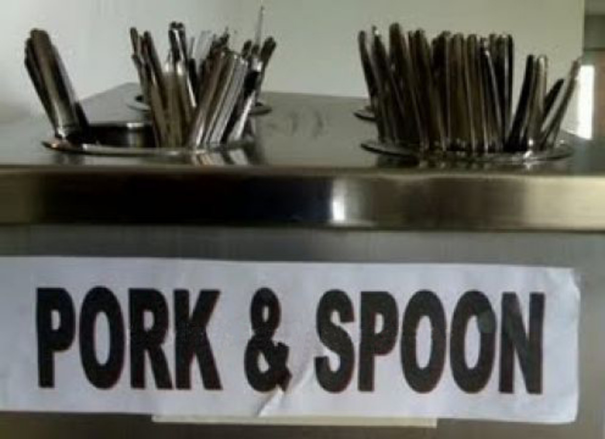 Wow, free pork with the spoon? Good thing you don't need a fork to eat the items in the putlong menu above.