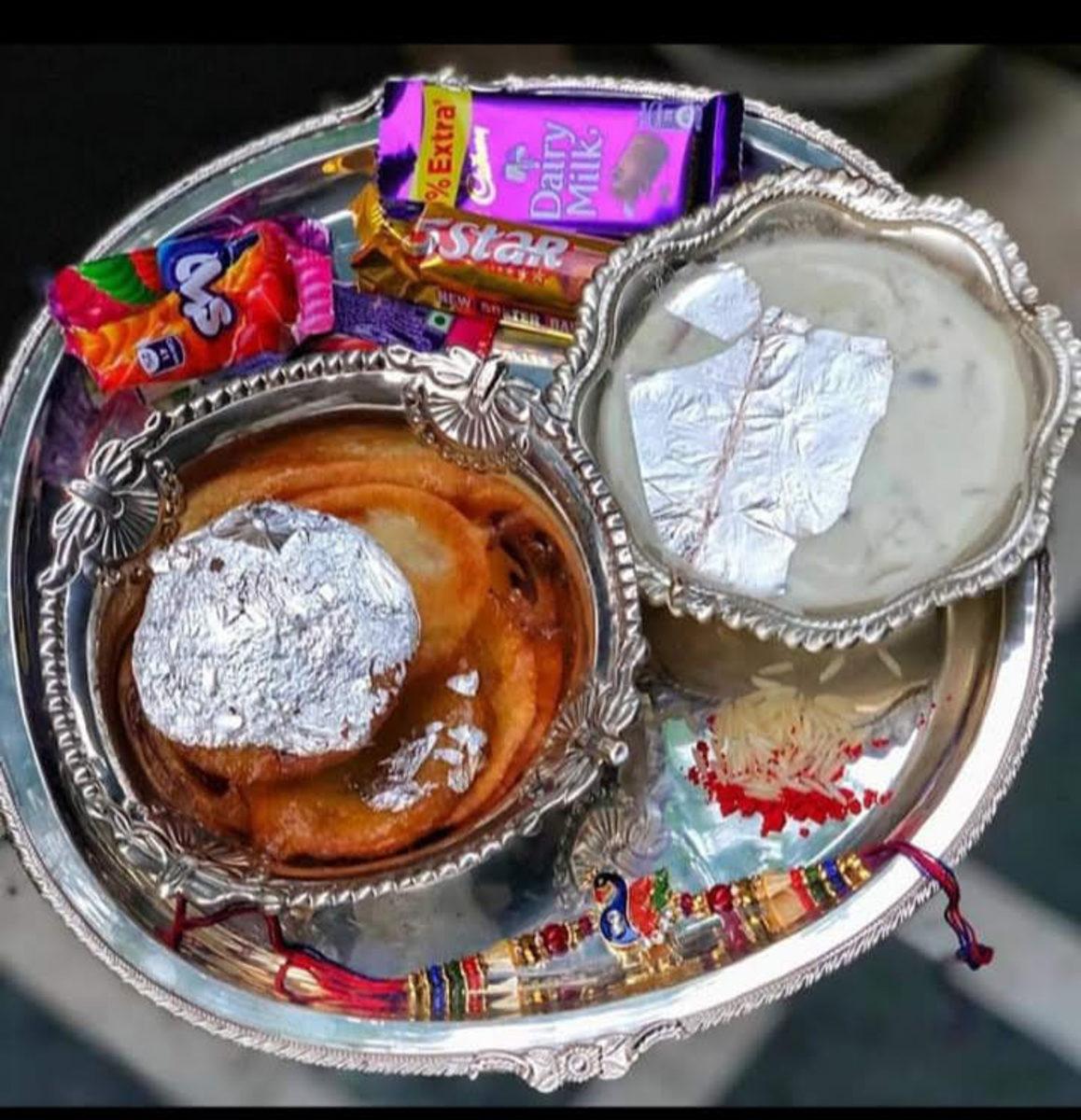 rakhi celebration plate..