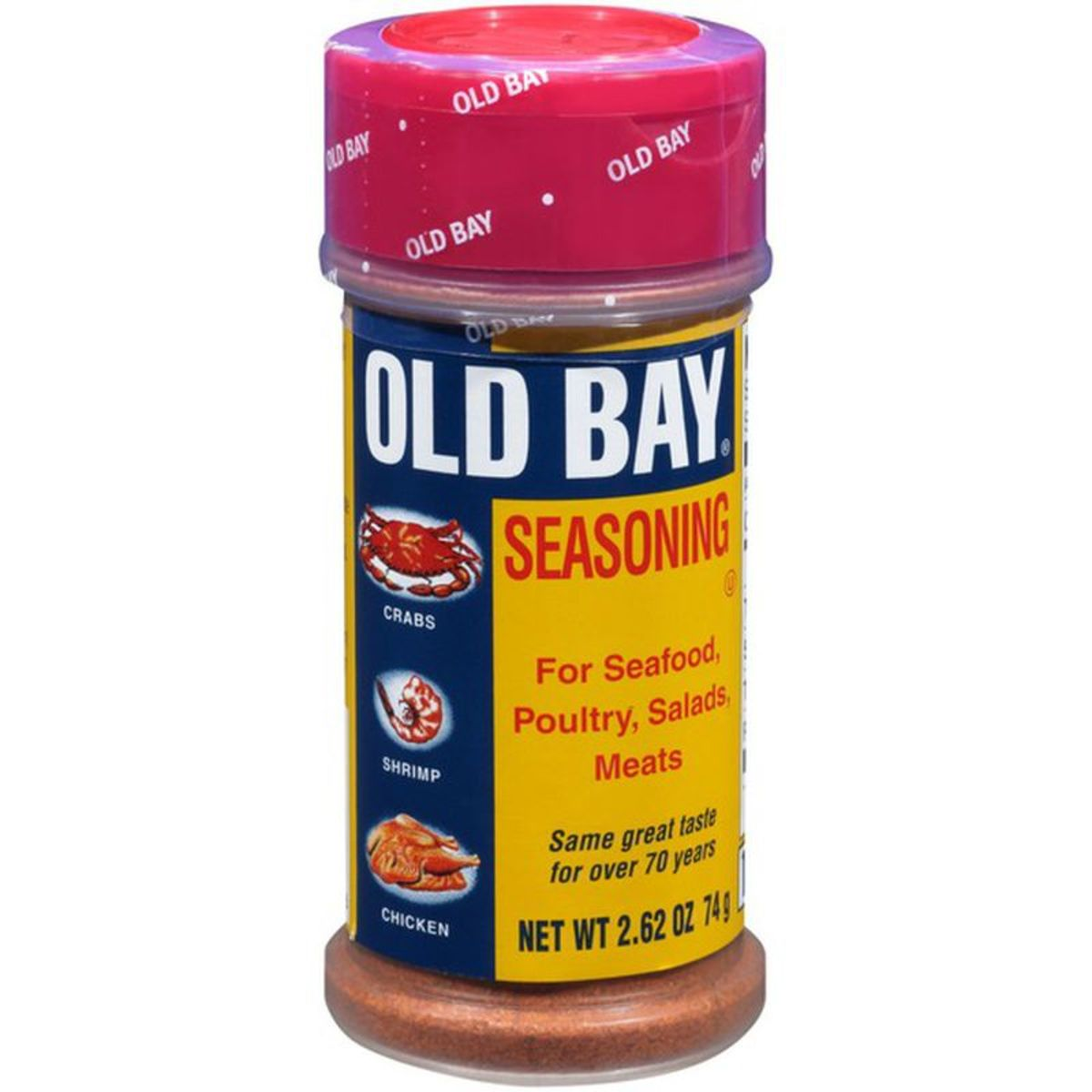 Old Bay in plastic container