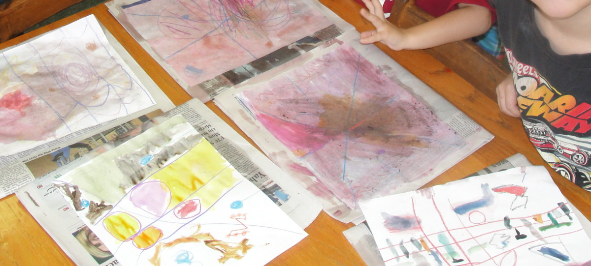 Some of the abstract art by our abc class