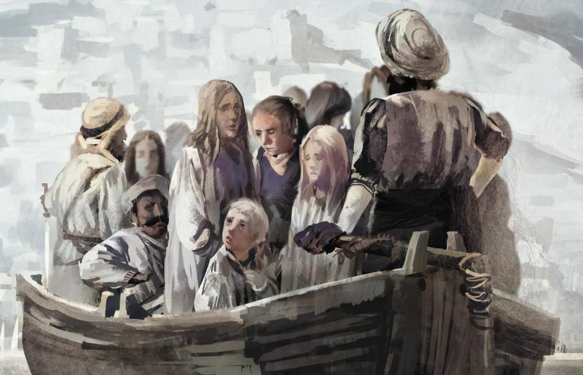 Captured in boats and taken to Morocco white slaves