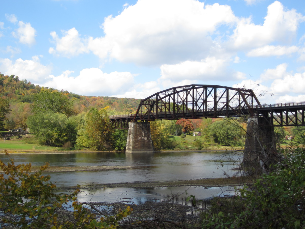 View of the Belmar Bridge from the Allegheny River Trail