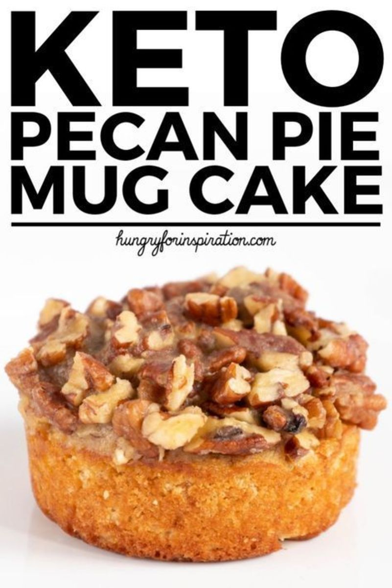 Pecan Pie mug cake by Hungryforinspiration.com just in time for Thanksgiving
