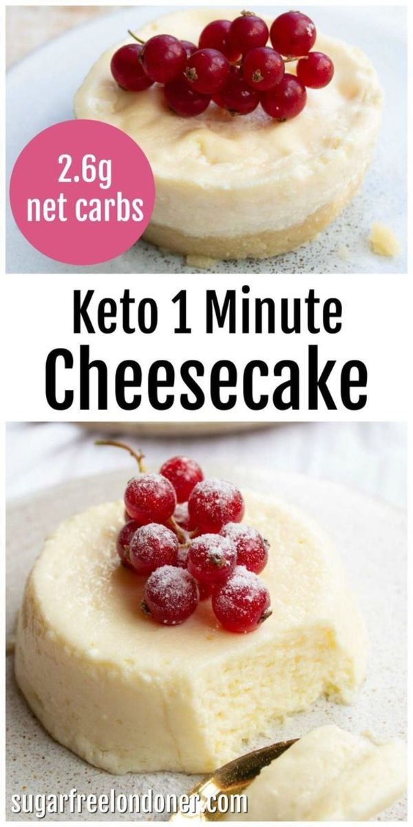 Classic cheesecake for the keto diet, but ready in 1 minute!