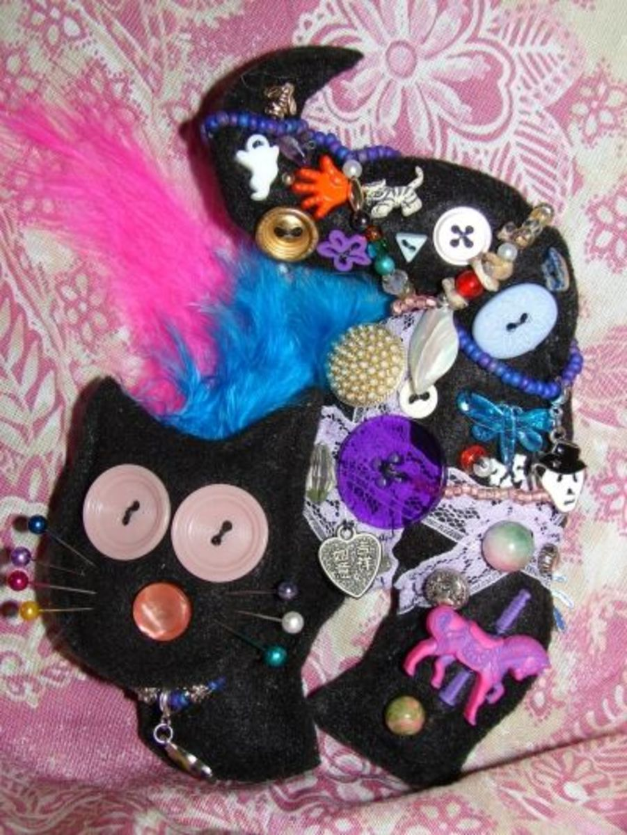 Black Cat Charm Doll