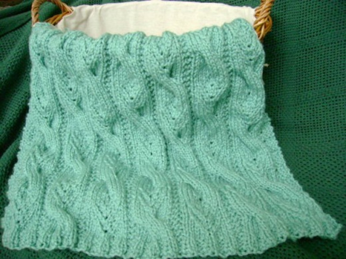 Sweet Cables Baby Blanket