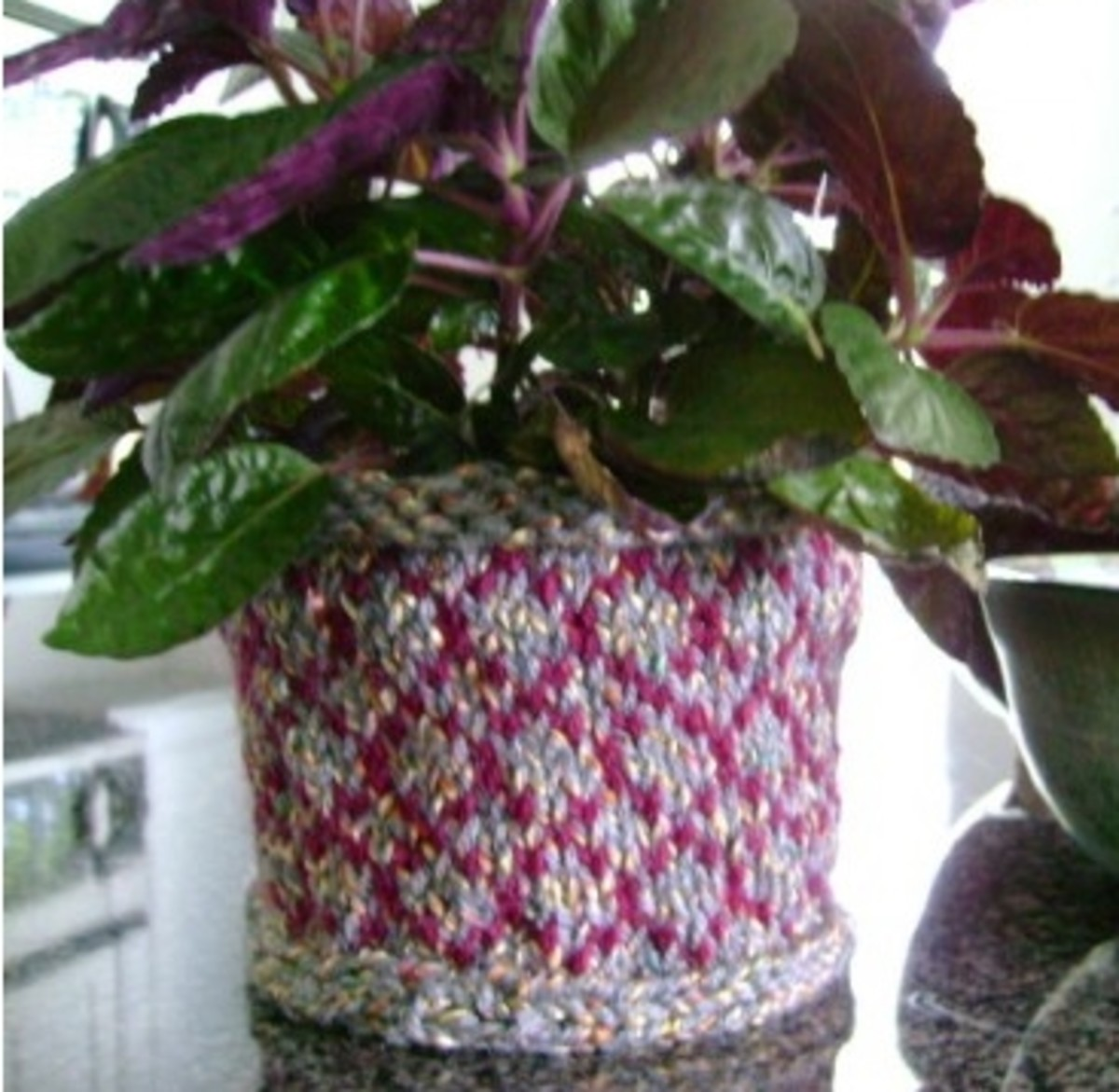 Knitted Pinwheel Basket