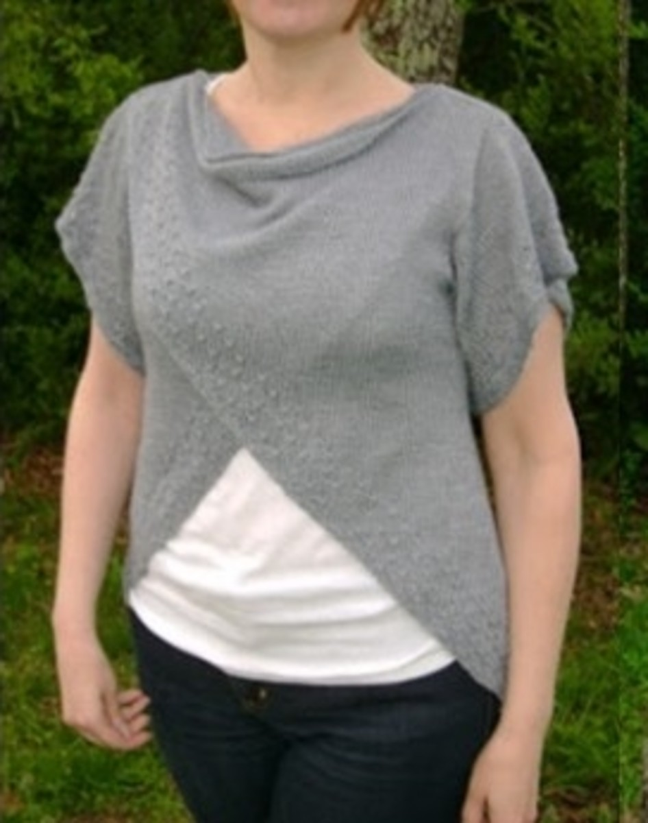 Knitting Pattern for Tulip Wrap Top