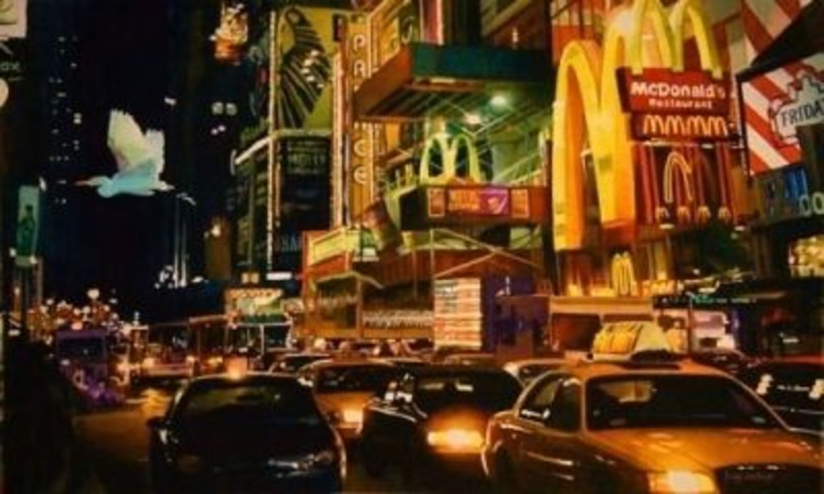 """Crosstown Traffic"" 22x36"" watercolor"