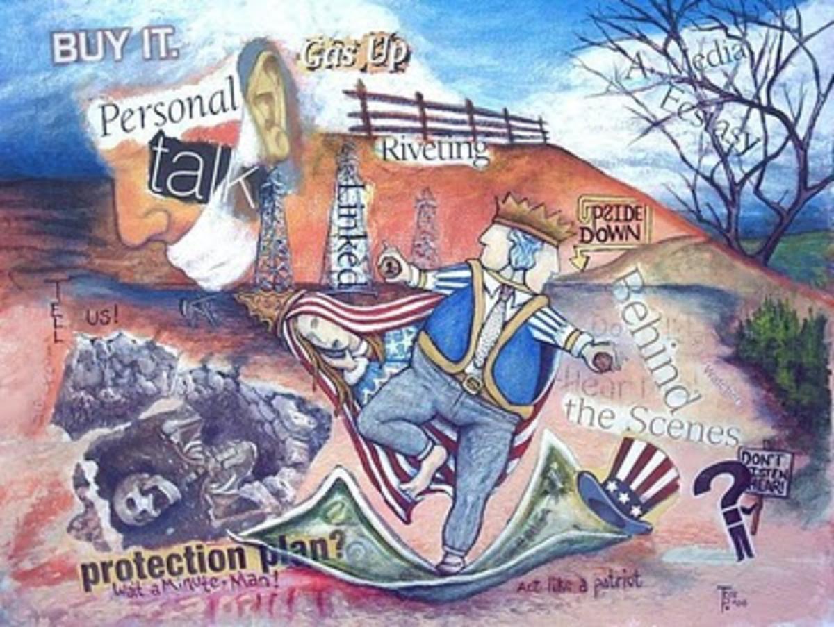 """Act Like A Patriot"", original art by Tree Pruitt"