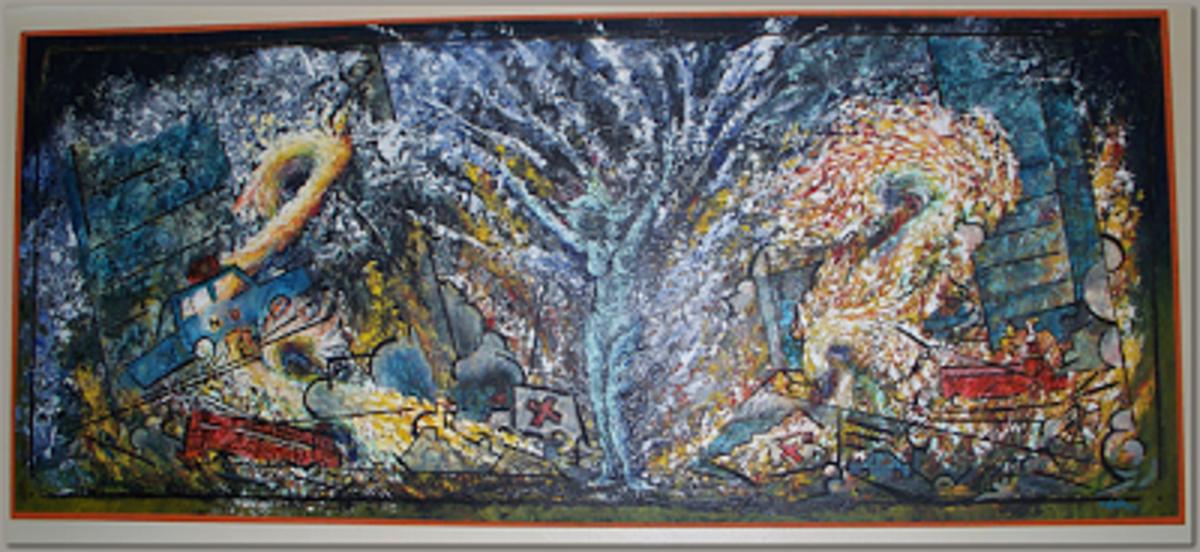 """Radio Description"" original art by Tree Pruitt."