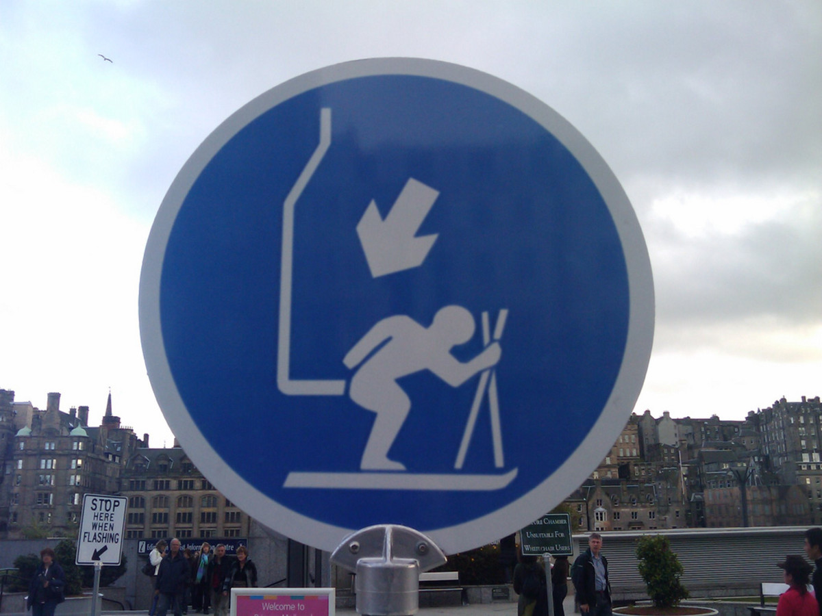 Photographer discovered a funny signs exhibition in Edinburgh.
