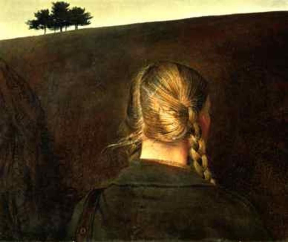 "Andrew Wyeth, ""Farm Road"", tempera on masonite, 1979)"