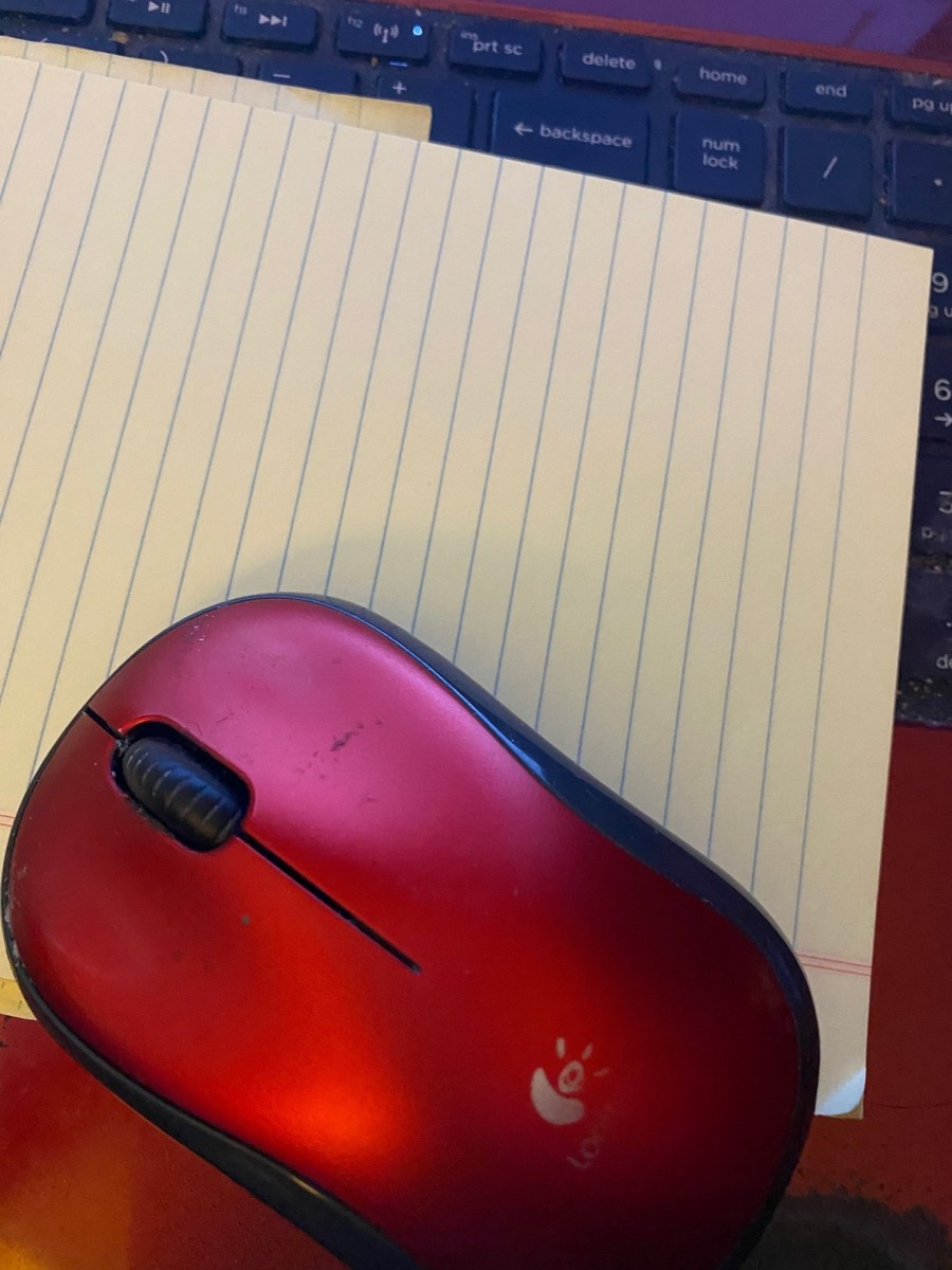 This is my LogiTech wireless mouse. It was giving me problems, had a heck of time fixing it.