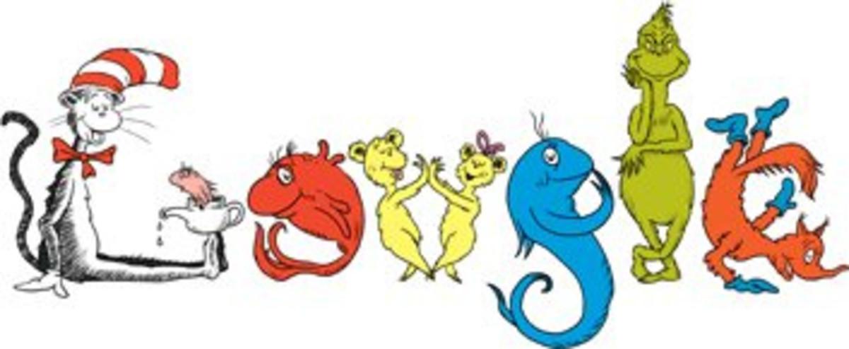 """Dr. Seuss """"doodle"""" for Google"""