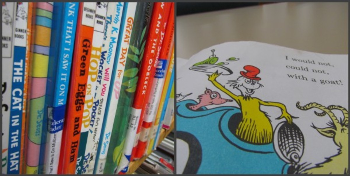 A collection of Dr. Seuss Children's books