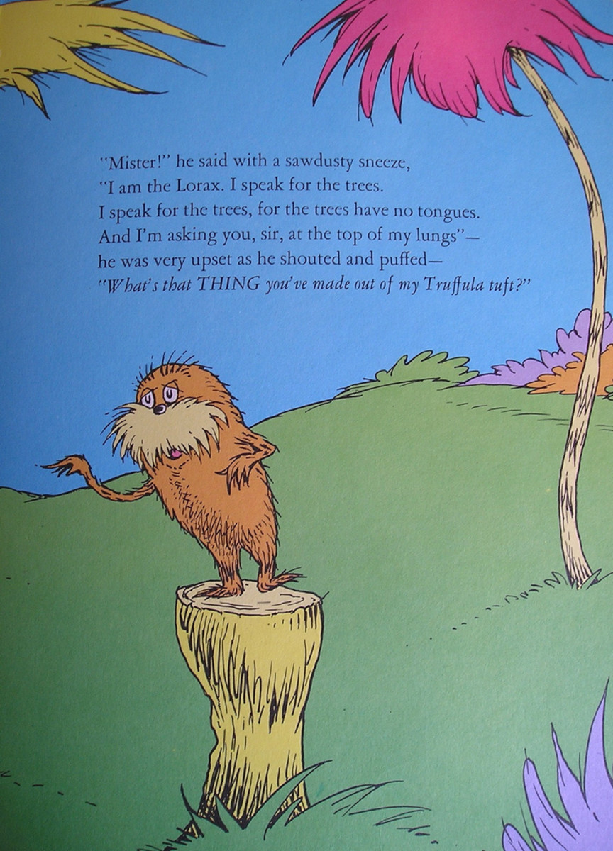 The Lorax is one of Dr. Seuss's famous characters
