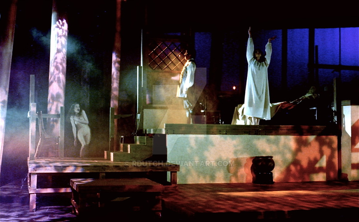 Notre Dame University theater production, 1996.