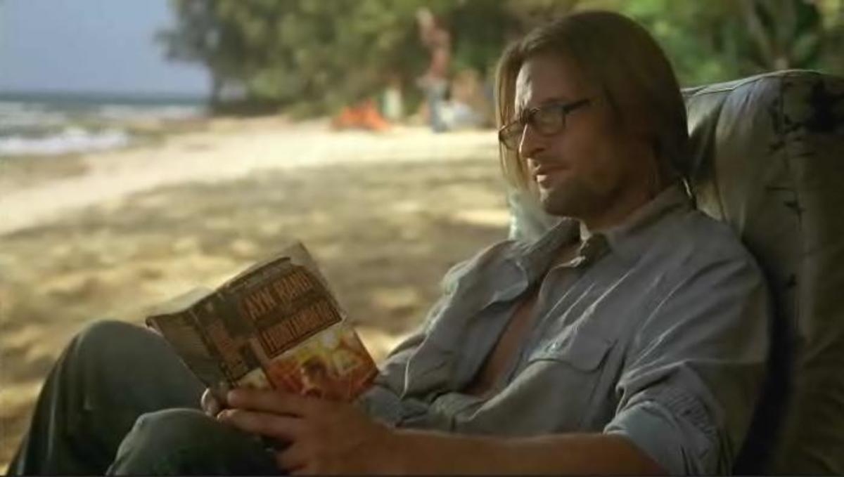 Sawyer reads a lot of different books in the TV series Lost