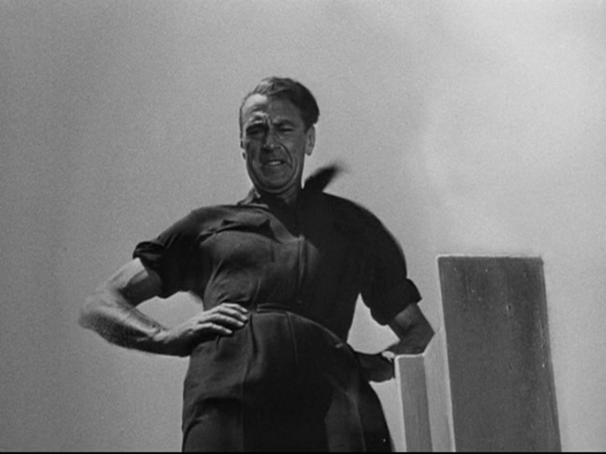 Gary Cooper portrays Roark in an infamously bad film adaptation of the Fountaihead