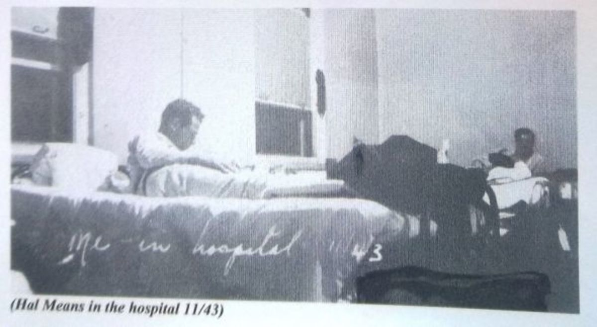 Dad in the hospital during world war II