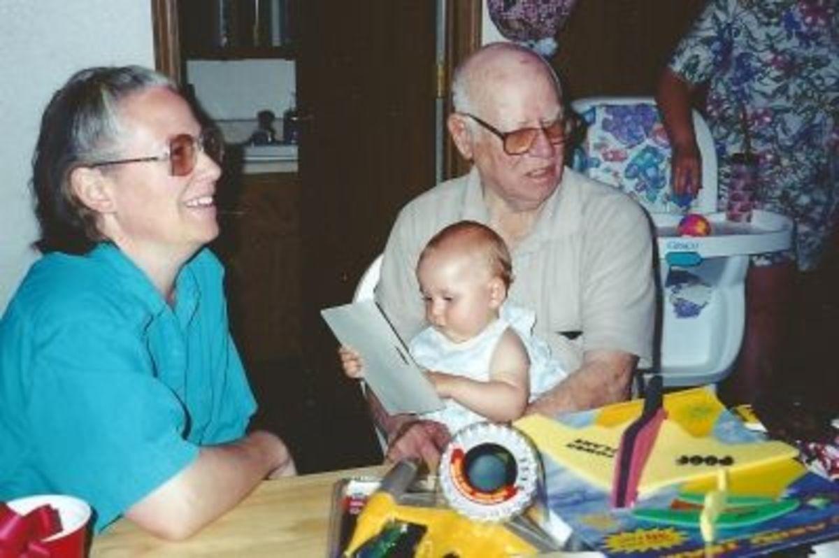 My sister Joy, my Dad and my niece MyKenzi